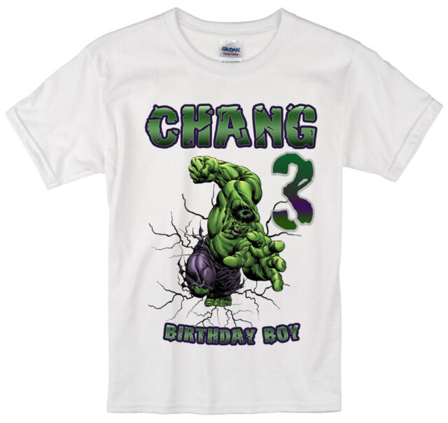 Incredible Hulk Birthday Shirt custom personalized t-shirt add any NAME and AGE