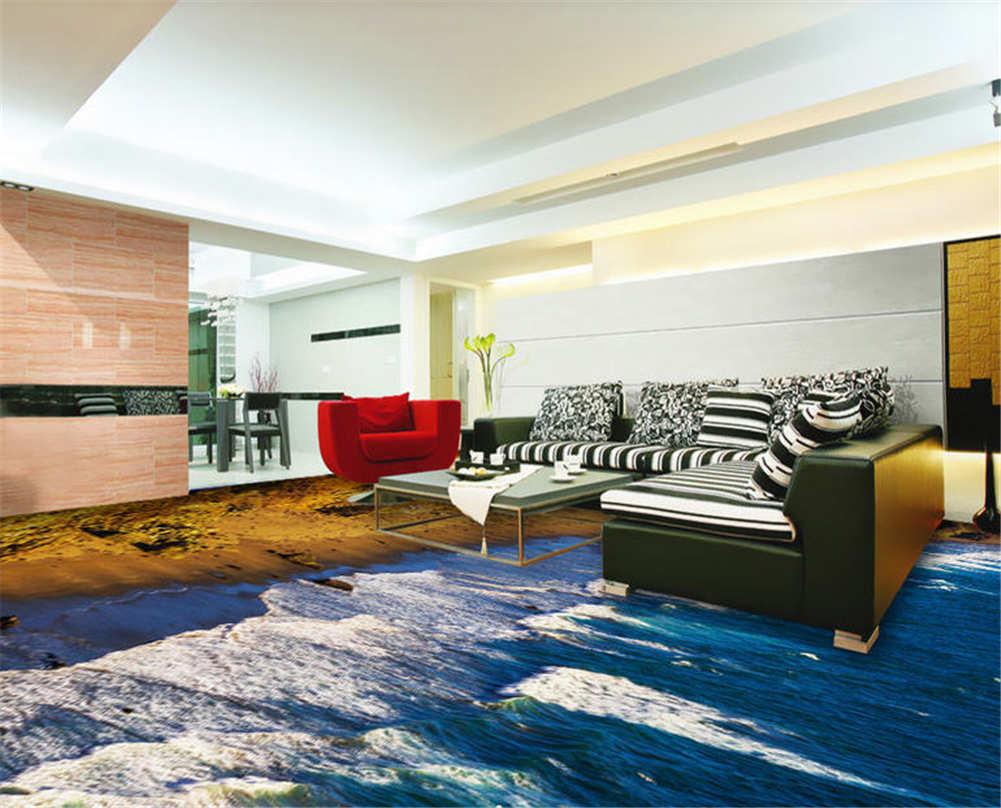 Die Kühle Meeresbrise 3D Fußboden Wandgemälde Foto Bodenbelag Tapete Zuhause Dek