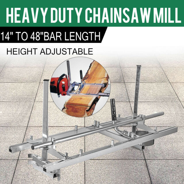 Portable Chainsaw Chain Saw Mill Planking Timber Milling 14/'/' to 36/'/' Guide Bar