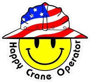 3-Happy-Crane-Operator-Smiley-USA-Hardhat-Oilfield-Helmet-Toolbox-Sticker-H83