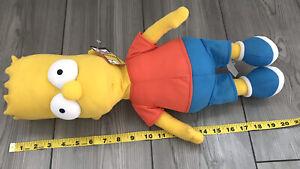 "The Simpsons 20"" Laying Flat Bart Simpson Nanco 2005 Plush Doll 20th Century Fox"