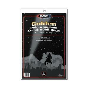 200 BCW GOLDEN GOLD AGE COMIC BAGS AND BOARDS