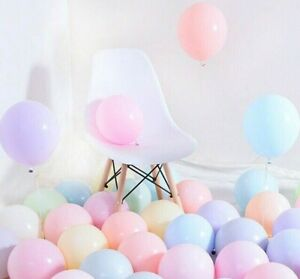 Pack-of-100-Pastel-Latex-Balloons-Macaron-Candy-Many-Colour-Party-5-039-039-Balloons