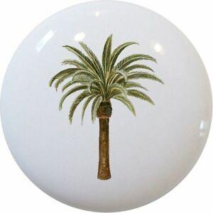 Image Is Loading Palm Tree Cabinet Dresser Drawer Pull Knob Ceramic