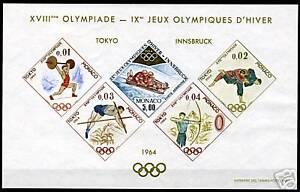 MONACO-OLYMPICS-1964-YVERT-SPECIAUX-BLOCKS-7-MINT-NH