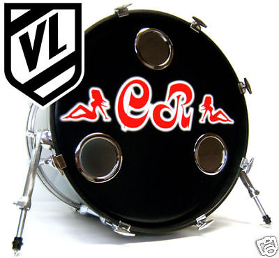 4 bass drum head mic hole kick port drum o 39 s ring choose from 3 colors ebay. Black Bedroom Furniture Sets. Home Design Ideas