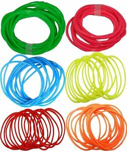 80s-90s-Gummies-Shag-Bands-Bracelets-Jelly-Gummy-Bangles-Pack-of-12-Accessories