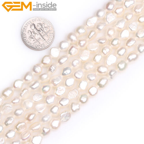 "Freeform 5-6x6-8mm D/'eau Douce Pearl Jewelry Making Enfilade Perles 15/"" COULEUR CHOIX"