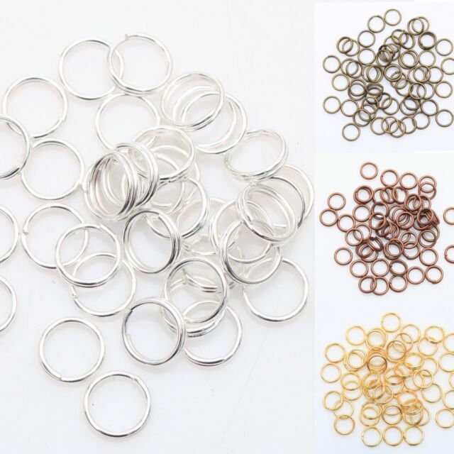 Latest Gold & Silver Plated Metal Double Split Jump Rings 4,5,6,8,10,12MM