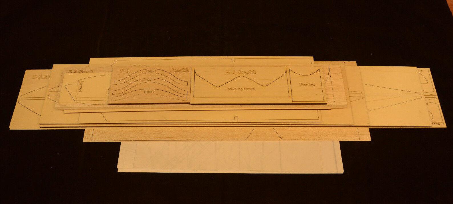 Giant Scale B-2 SPIRIT Laser Cut Short Kit, Plans & Instr 96 ws ELECTRIC POWER