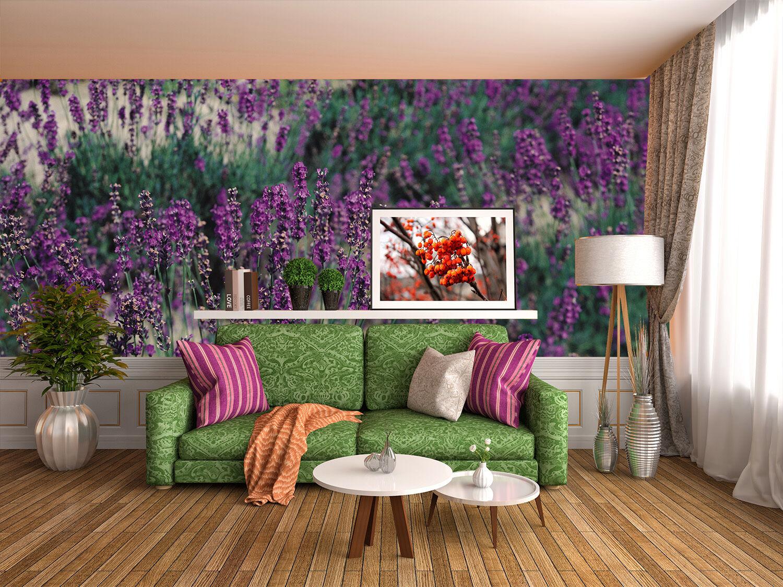 3D Lavender lila Field 54 Wall Paper Wall Print Decal Wall AJ WALLPAPER CA