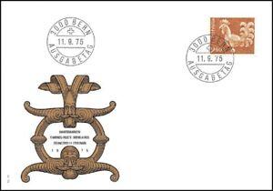 FDC-Suisse-Timbre-poste-ordinaires-11-9-75