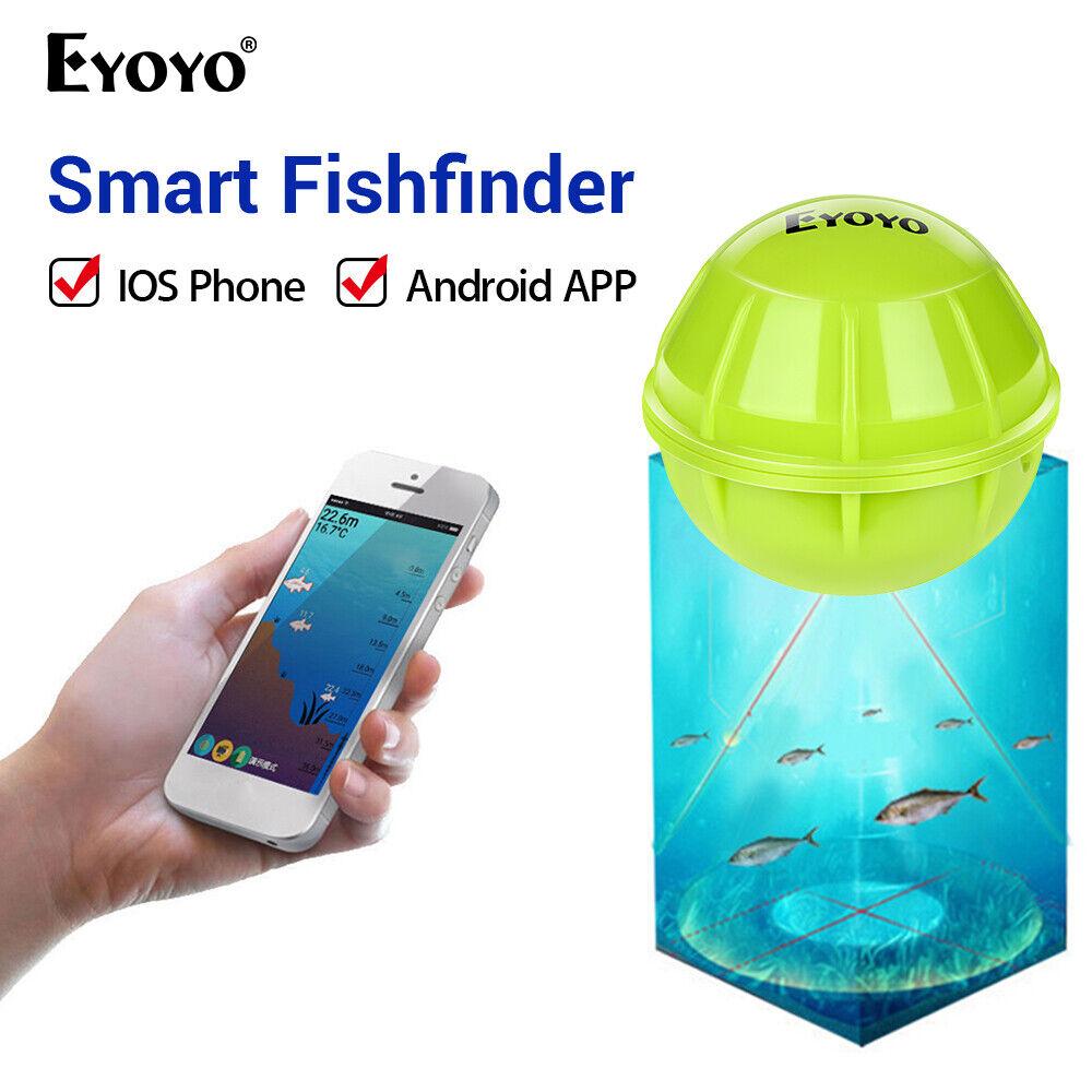 Eyoyo azultooth sonar modo de escena Buscador de los pescados Medidor de profundidad Botón Cerradura vista de zoom