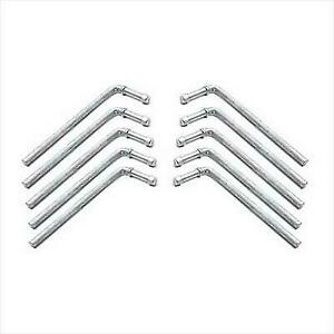 """Yonaka Exhaust Hanger Rods Polished 304 Stainless Steel 10 Pack 3//8/"""" x 9.5/"""""""