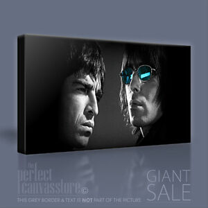 OASIS NOEL /& LIAM GALLAGHER STUNNING ICONIC CANVAS POP ART PICTURE Art Williams