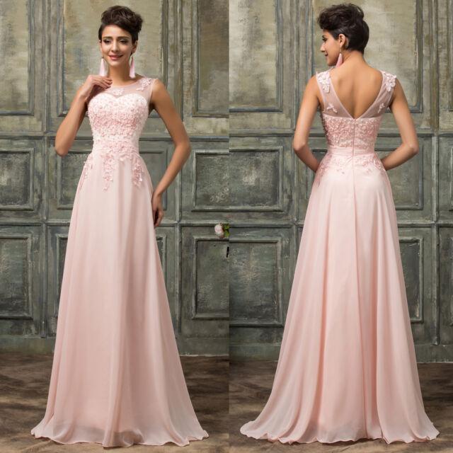 2017 lungo Matrimonio Abito da Ballo Serata Festa Formale Prom Damigella D'Onore