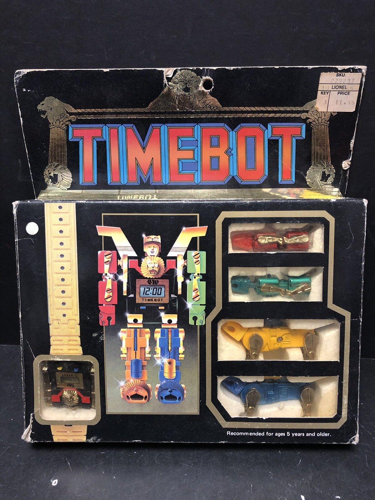 Original Vintage 1985 leecotex timebot robot Raro AM0001