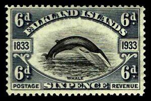 1933-Falkland-Islands-71-Whale-OGHR-F-VF-CV-75-00-ESP-3456