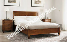 European Style Solid Sheesham Wood Queen Size bed with  2 matching bedsides !