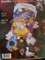 Christmas Bucilla Felt Applique Stocking Kit,baby Jesus,manger,nativity,84584,18