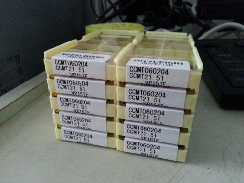 10pcs MITSUBISHI CCMT060204 VP15TF CCMT21.51 Carbide Insert New Free Shipping