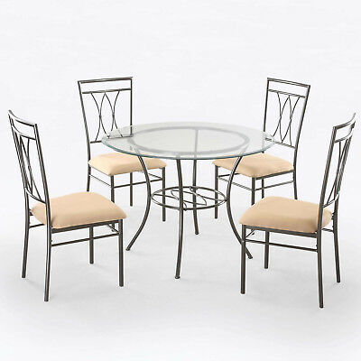 """New Dining Set Mainstays 5-Piece Table 4 Chairs 42"""" Round ..."""
