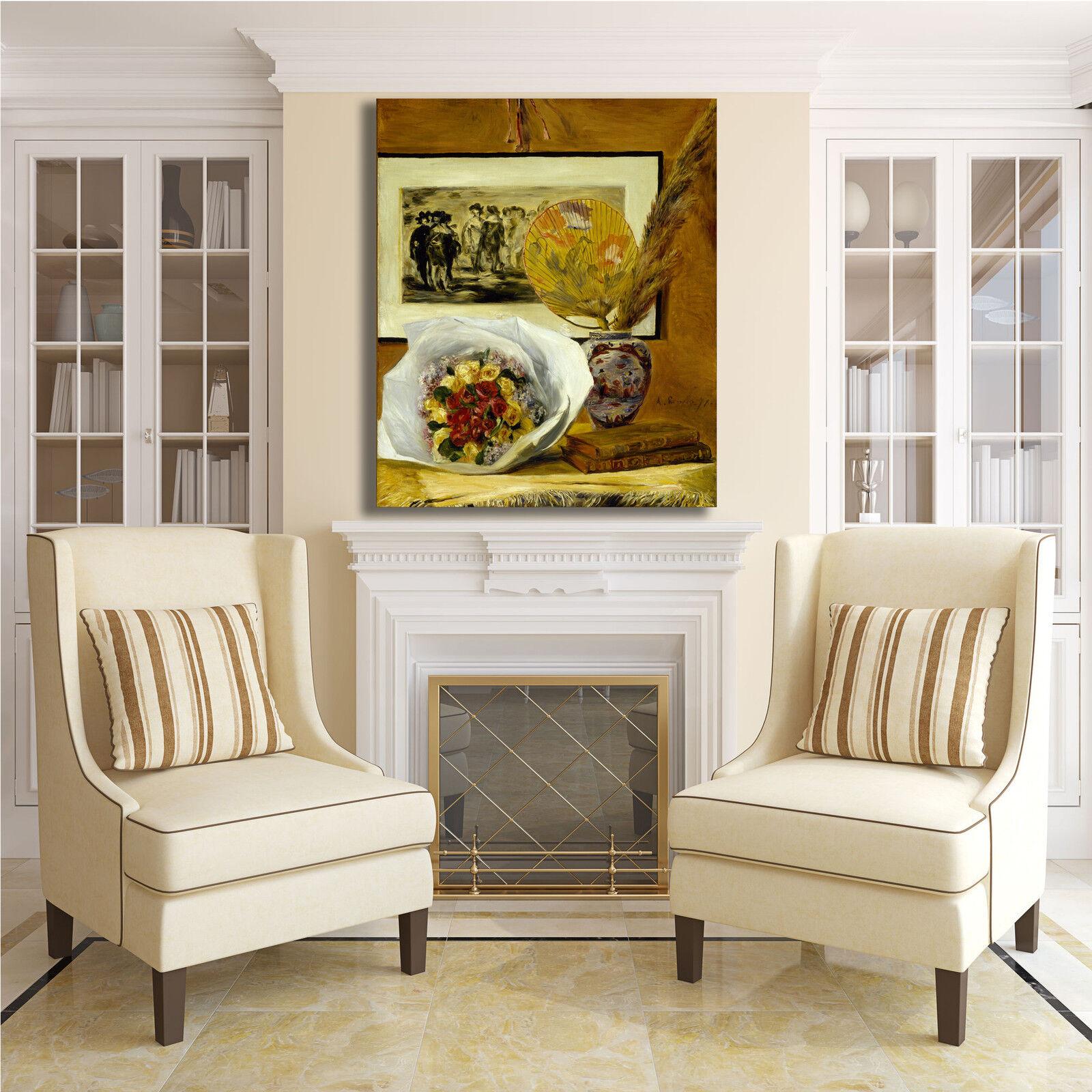 Renoir natura morta morta morta fiori design quadro stampa tela dipinto telaio arRouge o casa bcd8bf