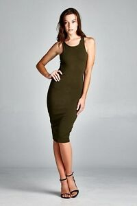 listing dresses sexy summer racer back bodycon ribbed cotton dress