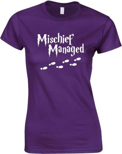 Ladies Printed T-Shirt Mischief Managed