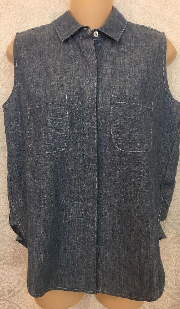 Frame Shirt bluee Sleeve Less Size XS NWT    188