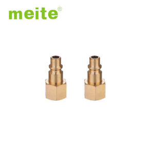 Details about 5 Packs Industrial Thread Type Quick Plug Female 1/4'' NPT  Air Hose Fittings