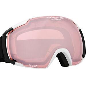 Bekleidung Skibrille Snowboardbrille kontrastverstärkend pink Scheibe mit Antibeschlag