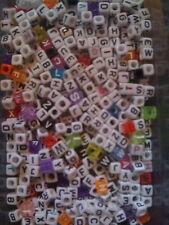 JOBLOT 520 CUBE ALPHABET LETTER BEADS (20 of each letter of the alphabet)