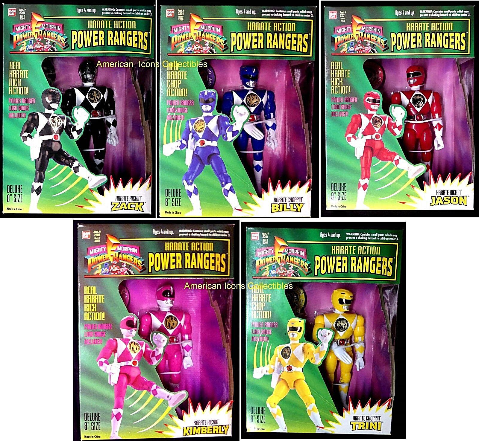8  Power Rangers Karate Acción Conjunto de 5 nuevo 1994 Zack Billy jasontrini + amricons
