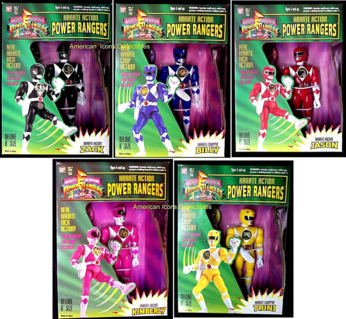 8 Power Rangers Karate Action Set of 5 New 1994 Zack Billy JasonTrini+ Amricons