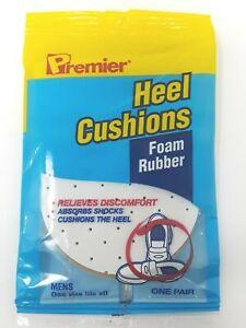 2 Premier Heel Cushions Foam Rubber Absorbs Shock Cushions Mens /& Woman Fits All