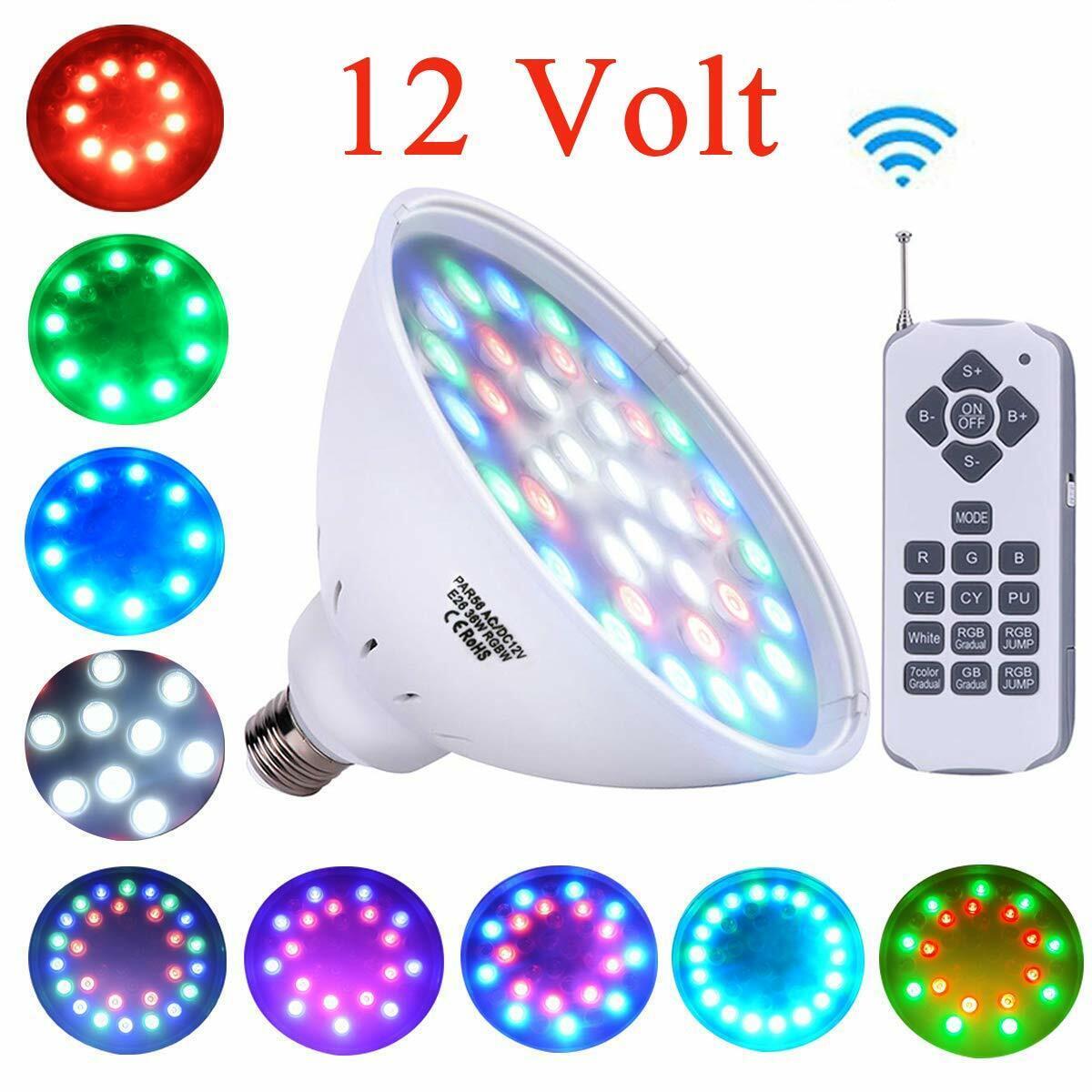 Luz LED xiube PAR56 RGB Bombilla Luces De Piscina 12V 36W Interruptor de control