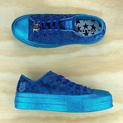 Converse x Miley Cyrus Chuck Taylor All Star Lift plateforme bleu Chaussures 563721 C SZ | eBay