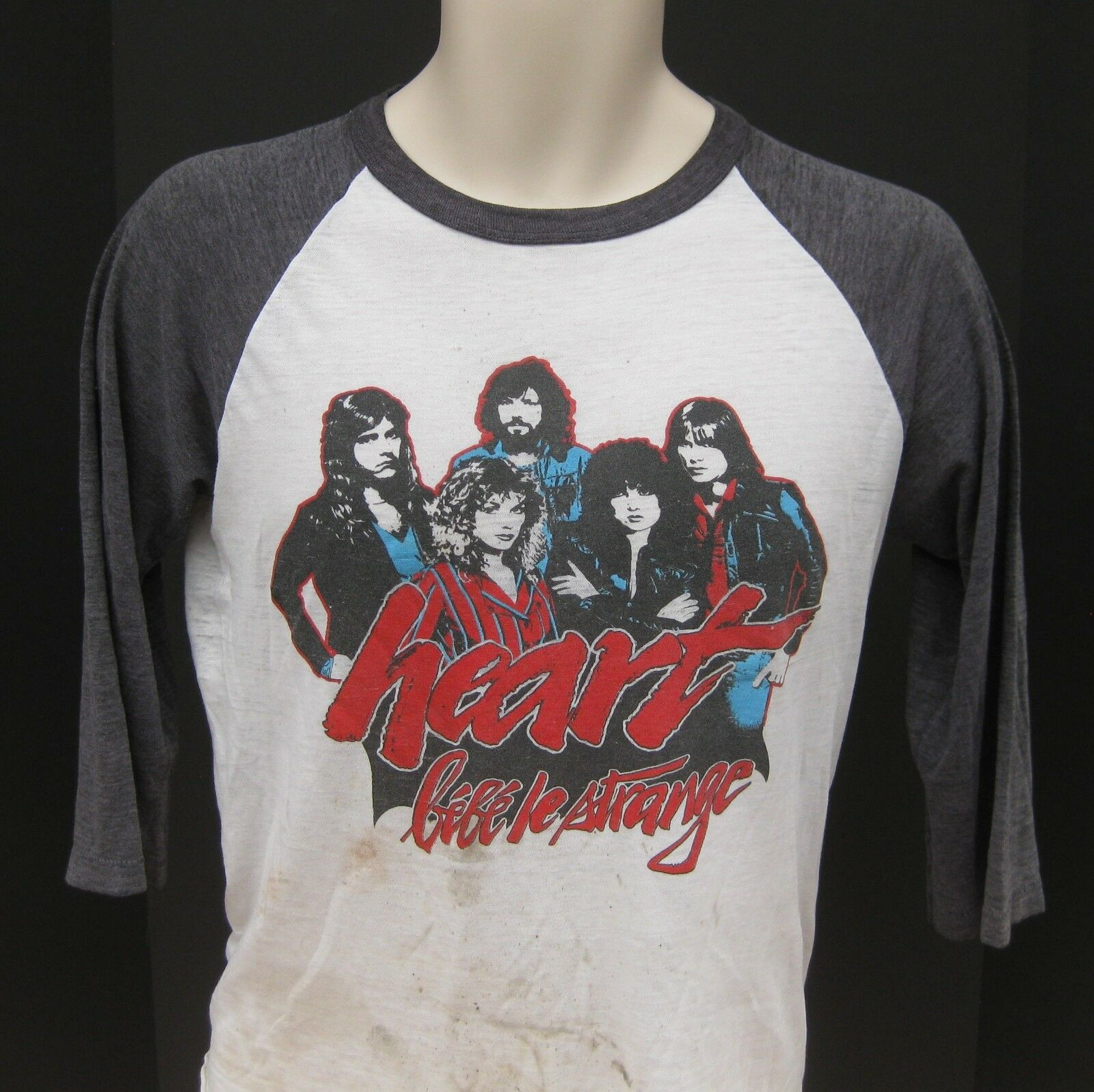 VTG 1980 Heart Bebe Le Strange World Tour Concert Shirt Adult Medium 80s Destroy