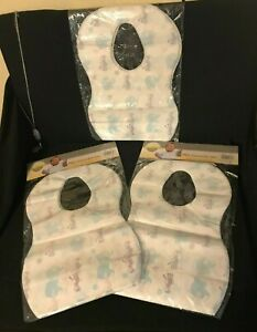 Happy Baby & Toddler NIP 30 Bibs Disposable Cloth Paper Eating Drool Leakproof