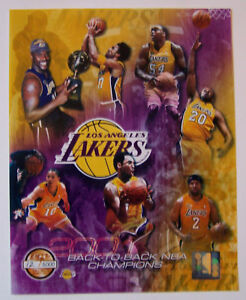 LAKERS-SERIAL-2001-BACK-TO-BACK-NBA-CHAMPS-8X10-PHOTO