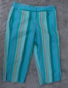2038651bd88 Liz Claiborne Capris Cropped Pants Plus 12P Audra Turquoise Blue ...