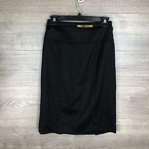 Lauren-Ralph-Lauren-Women-039-s-Size-2-Pencil-Skirt-Black-Belted-100-Wool-Lined