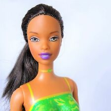 Barbie Palm Beach Christie Doll Raven hair Brown eyes Bendable legs Nude issues