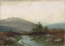 RUBENS A J N SOUTHEY Painting BURNING BRACKEN YES TOR OKEHAMPTON DARTMOOR c1900