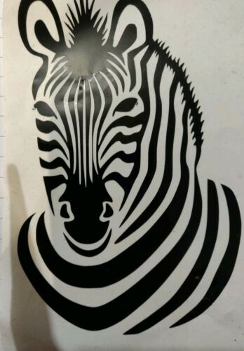 Vinyl Decal Zebra bottle size