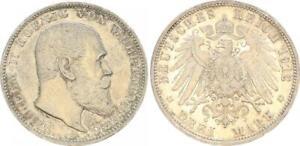 Württemberg 3 Mark 1912 F Wilhelm II Xf-Bu (48505)