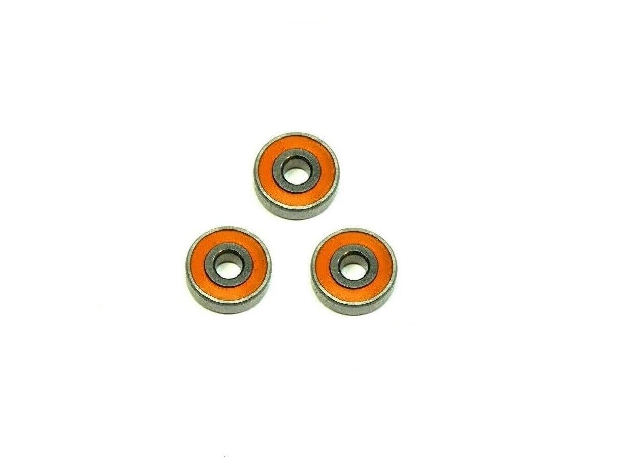 ABEC-7 Hybrid Keramik orange Dichtung Spule Lager (1) 5x11x4 & (2) 3x10x4