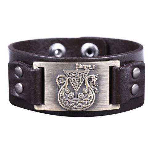 Vintage Norse Viking Bateau Pirate Irlandais nœud métal Amulette Bijou Connecteur Bracelet