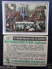 figurines cromos picture cards figurine risorgimento italiano 227 panini 1975 br
